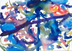 Deep Blue Abstract Watercolor