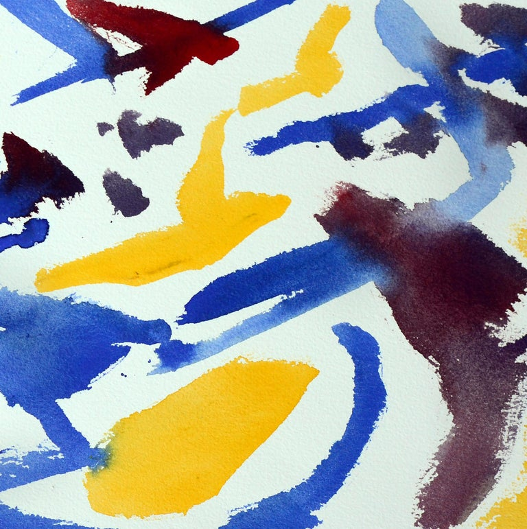 Yellow, Blue & Red Abstract  - Abstract Expressionist Art by Les Anderson