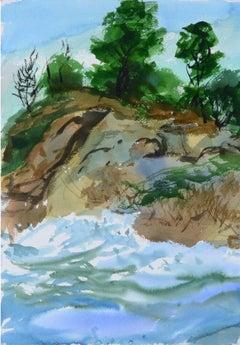 Cypress Point Sunrise / Pt. Lobos Seascape - Double Sided Watercolor