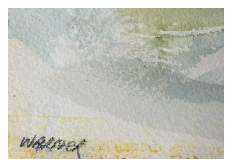 Purple Mountains Landscape - Gray Landscape Art by Doris Warner