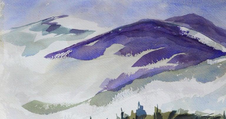 Purple Mountains Landscape - Art by Doris Warner