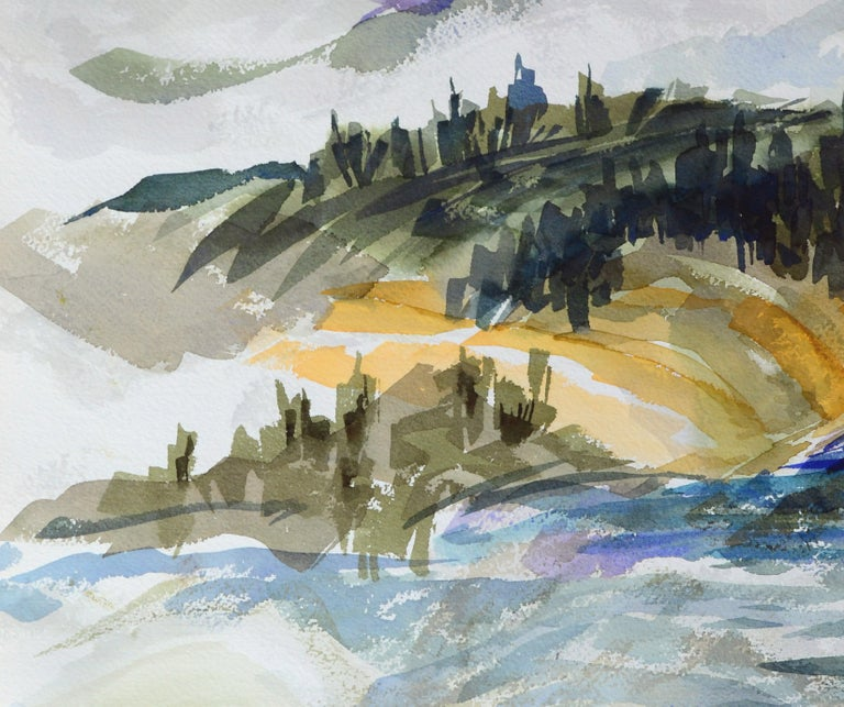 Purple Mountains Landscape - American Impressionist Art by Doris Warner