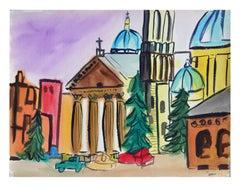 Vibrant Basilica Cityscape