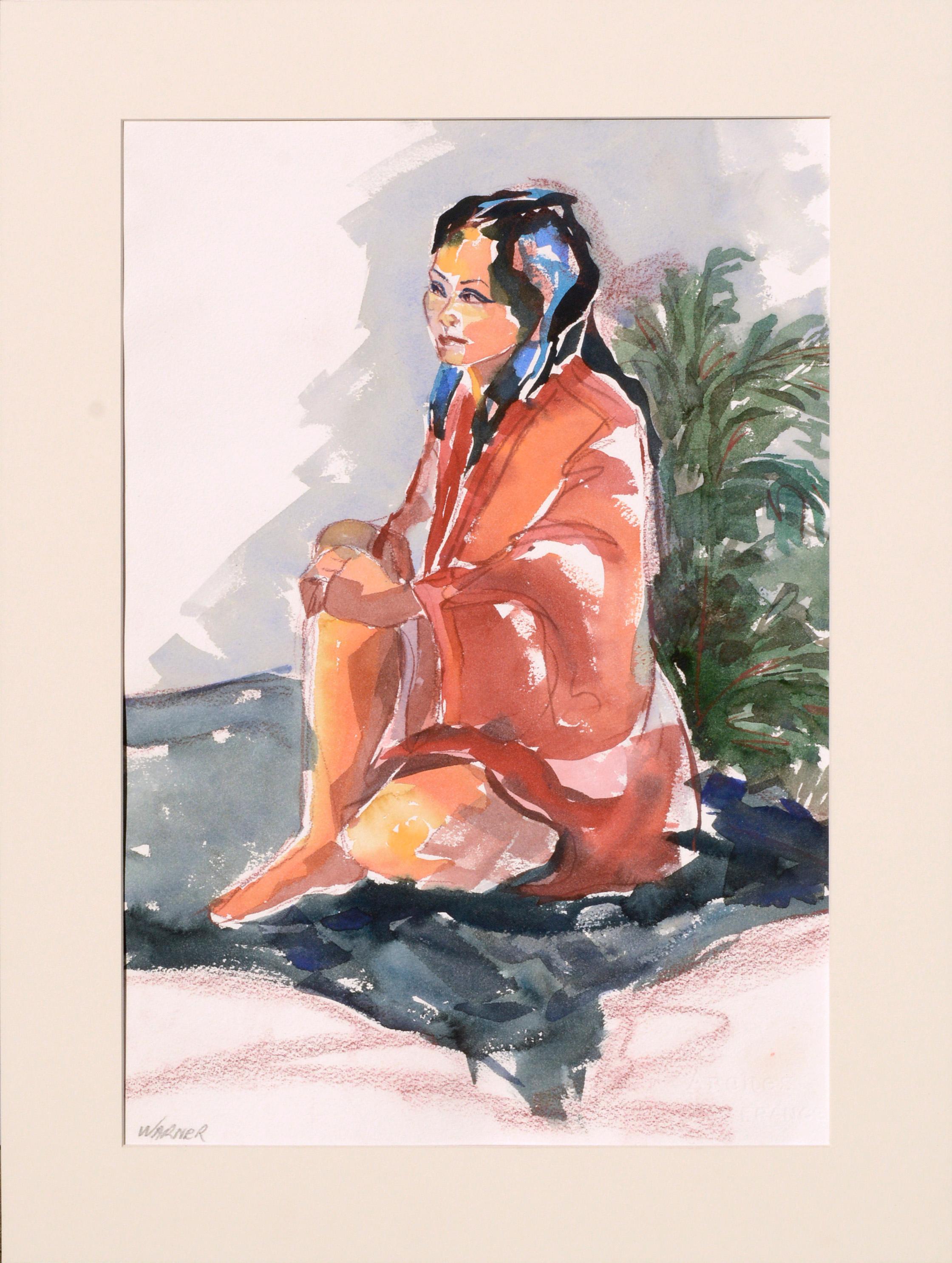 Seated Woman Figurative Portrait