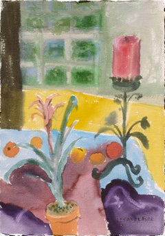 Vertical Still Life with Candle