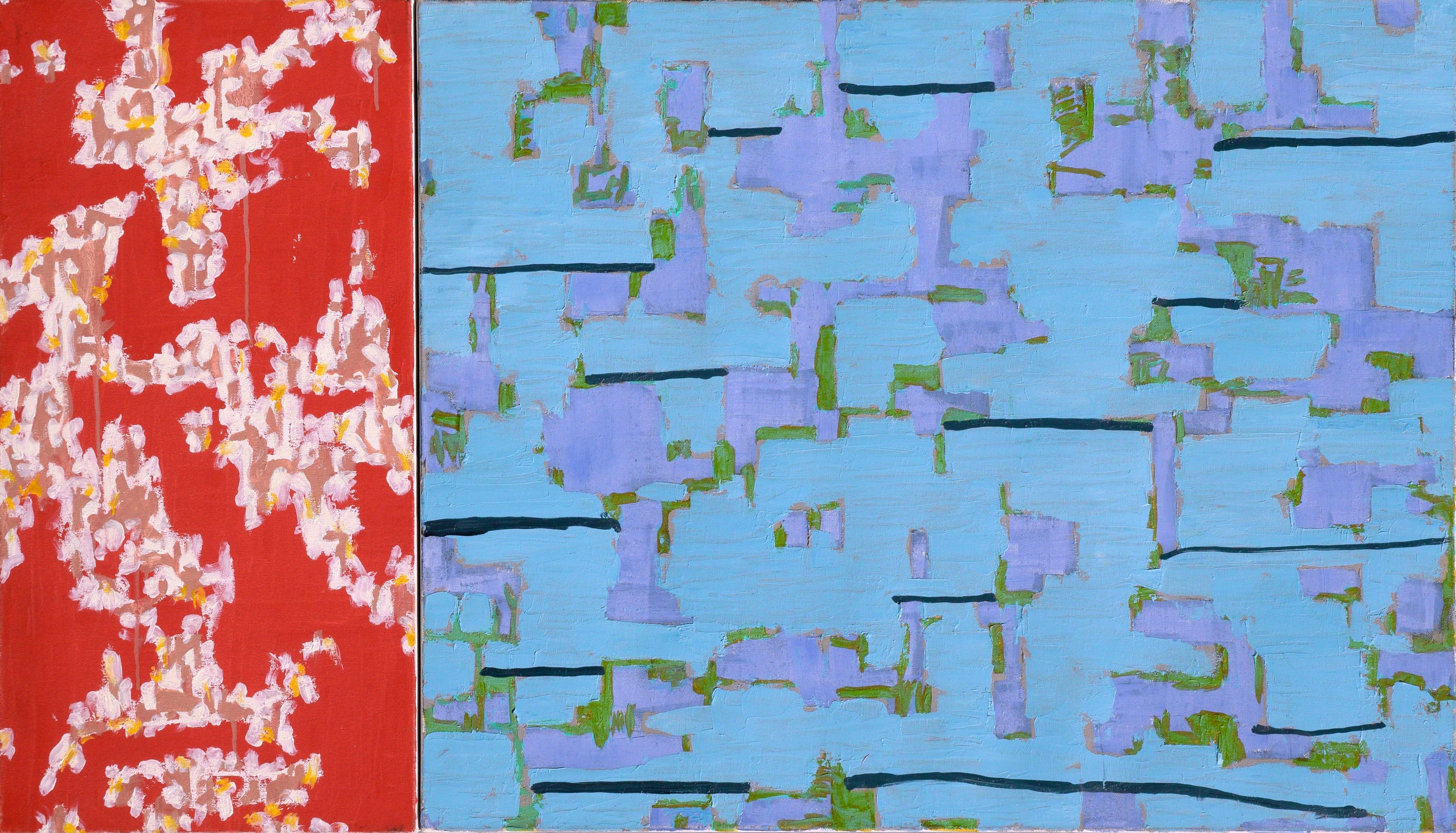 Two-Part Abstract: Blue and Red