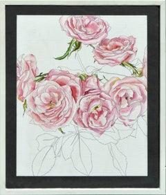 Pink Roses - Botanical Study