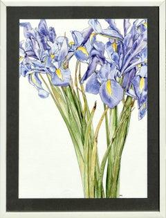Iris Escaping - Botanical Study