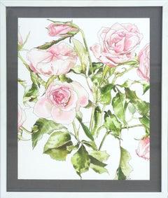Light Pink Roses - Botanical Study