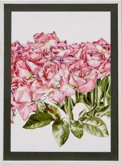 Hot Pink Roses - Botanical Study