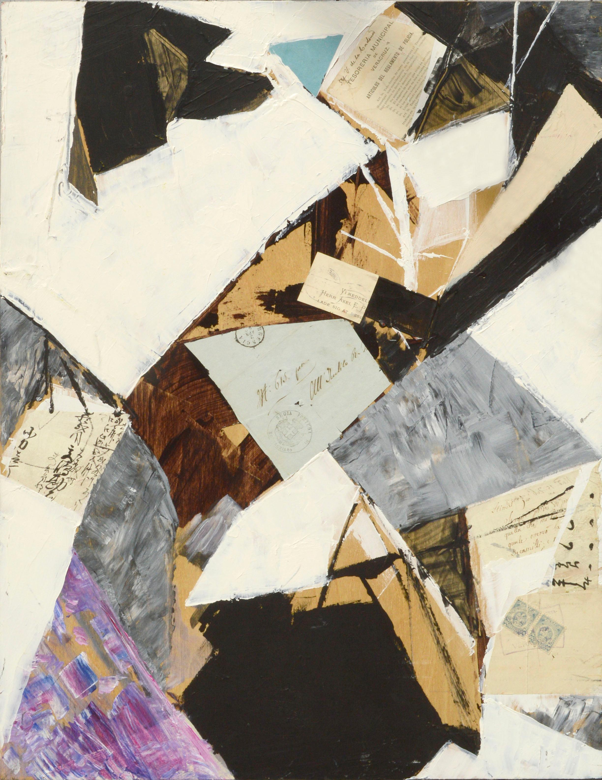 """""""Brescia"""" Abstract Painting Collage"""