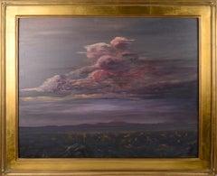 Purple Desert Storm Clouds - Nocturnal Landscape