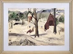 """""""Barn in Winter"""" - Landscape"""