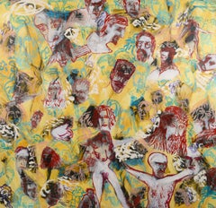 """""""Selfie in Hell"""" Figurative Abstract"""
