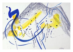 Blue and Yellow Abstract