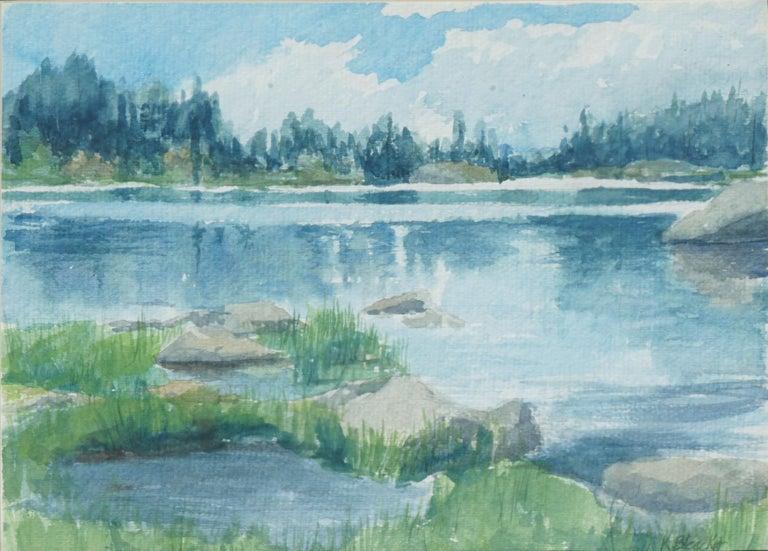 Blue Lake Landscape  - Art by K. Bleecker