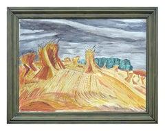 Modernist Wheat Sheaves Landscape