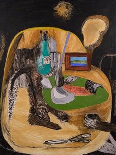 """Studio Sweepings"" - Surreal Figurative Abstract Interior"