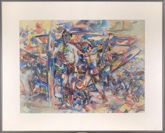 Surfers at the Chincoteague Island Beach 1968 - Cubist Abstract
