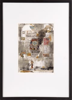 """""""Oesterreich II"""" Monotype with Chine Colle and Watercolor"""