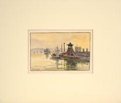 Sailboats at the Dock - Seascape