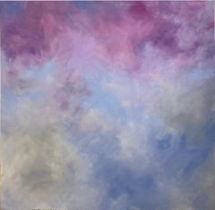 'Dawn Closing In', Abstract Contemporary Sky and Clouds Oil Painting on Canvas