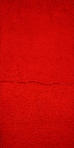 'Edge', Handmade paper with pigment on canvas