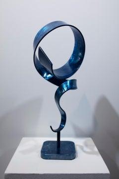 'Blue Windup', Steel Sculpture