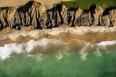 'Just Walk', large contemporary Montauk beach aerial photography