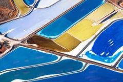 'Shaken', large contemporary Potash Ponds, Moab, Utah aerial desert photography