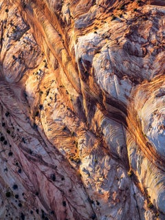 'Story Lines', large contemporary Zion National Park canyons aerial photography