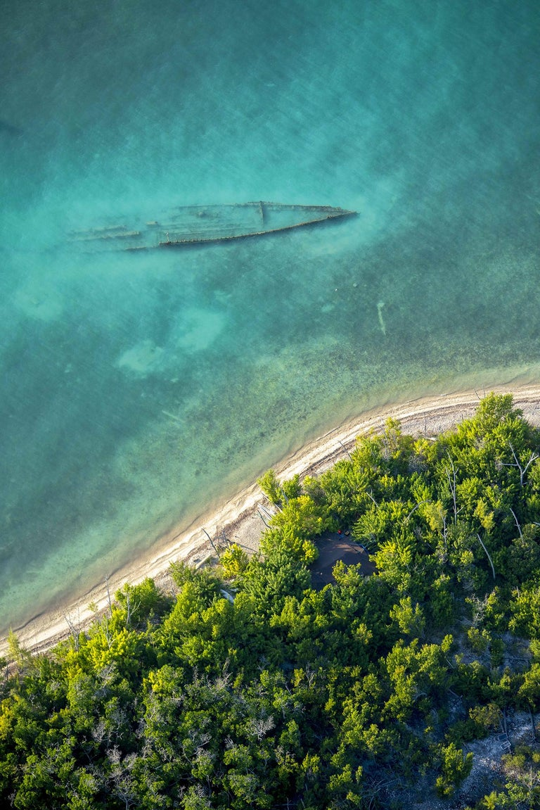 "Dinesh Boaz Color Photograph - ""Ghost Ship,"" Key West, Florida"