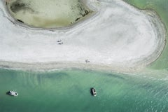 'Keep Walking', contemporary limited edition Siesta Key beach aerial photography