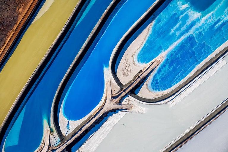 "Dinesh Boaz Color Photograph - ""Layers in Movement,"" Potash Ponds, Moab Desert, Utah"