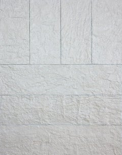 'Pearl Wall One', Handmade paper on canvas