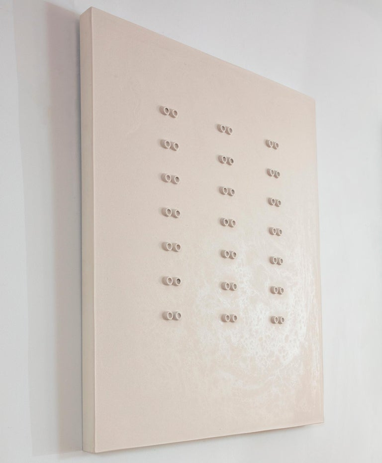 '42 Hours', Mixed Media with Resin on wood panel  - Minimalist Mixed Media Art by Mauricio Morillas