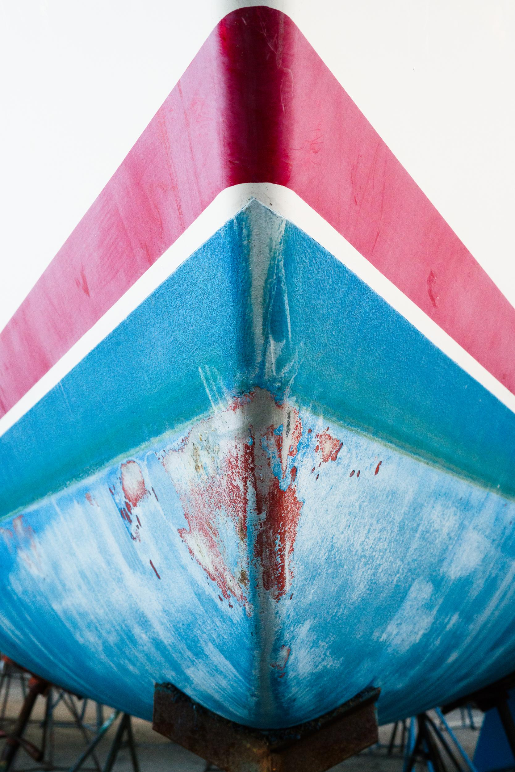 """Boat Prow Series I,"" Contemporary Nautical Photograph, 48"" x 72"""