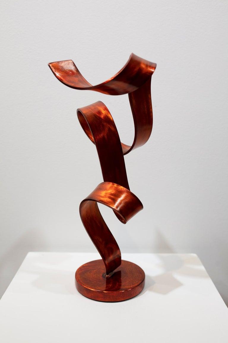 'Orange Swirl', Steel Sculpture 1