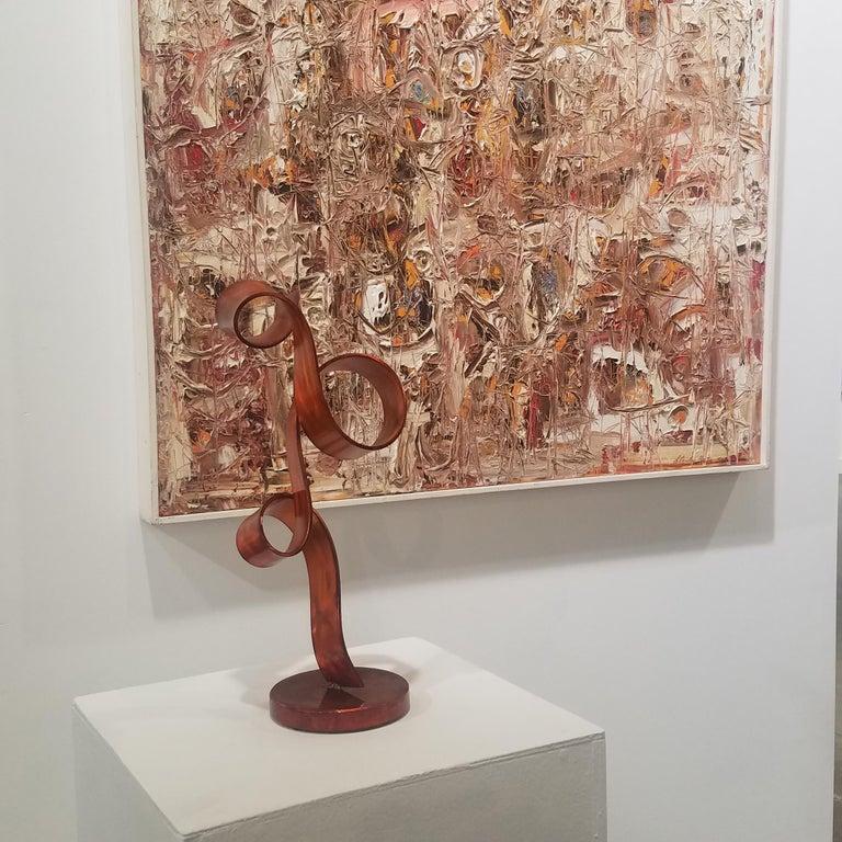 'Orange Swirl', Steel Sculpture 5