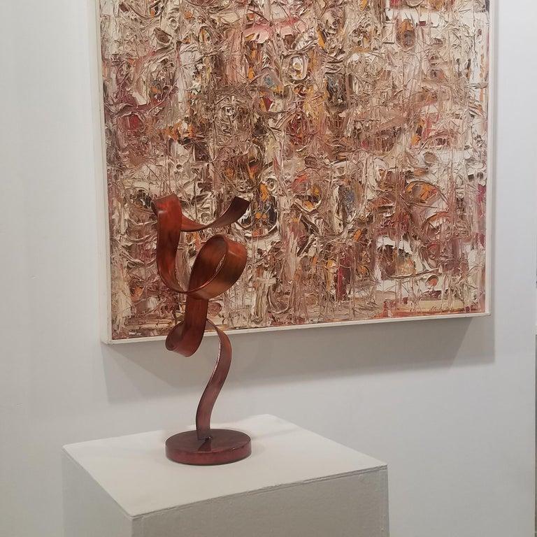 'Orange Swirl', Steel Sculpture 6