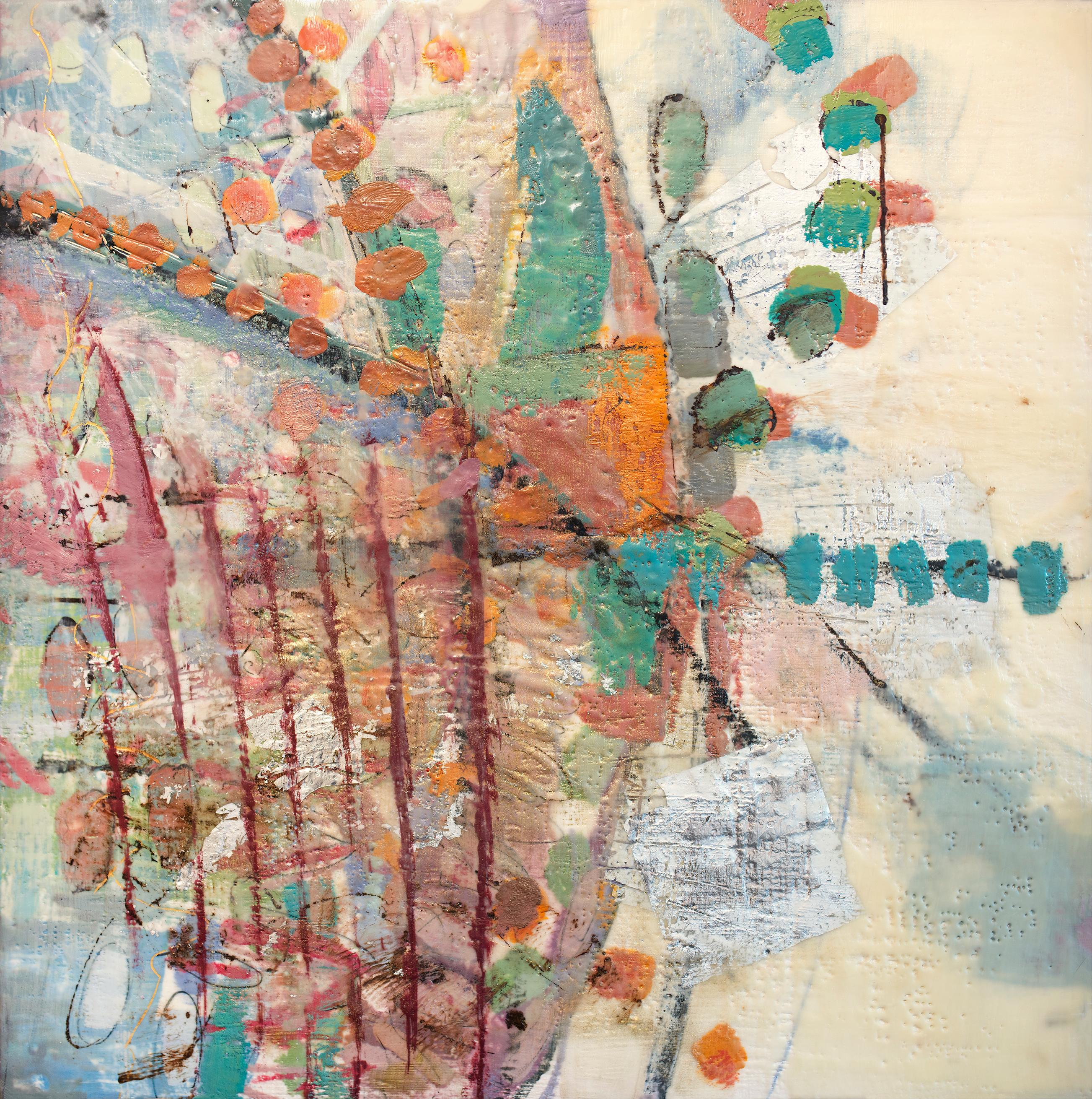 """Nature Revealed,"" Abstract Encaustic Painting"