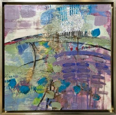 """""""Stone Dance,"""" Abstract Encaustic Painting"""