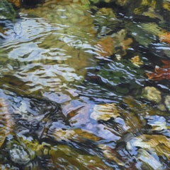 """Rocky River 7,"" Realist Oil Painting"
