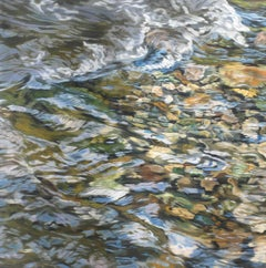 """Riverbed 3,"" Realist Oil Painting"