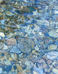 """Streambed II,"" Realist Oil Painting"