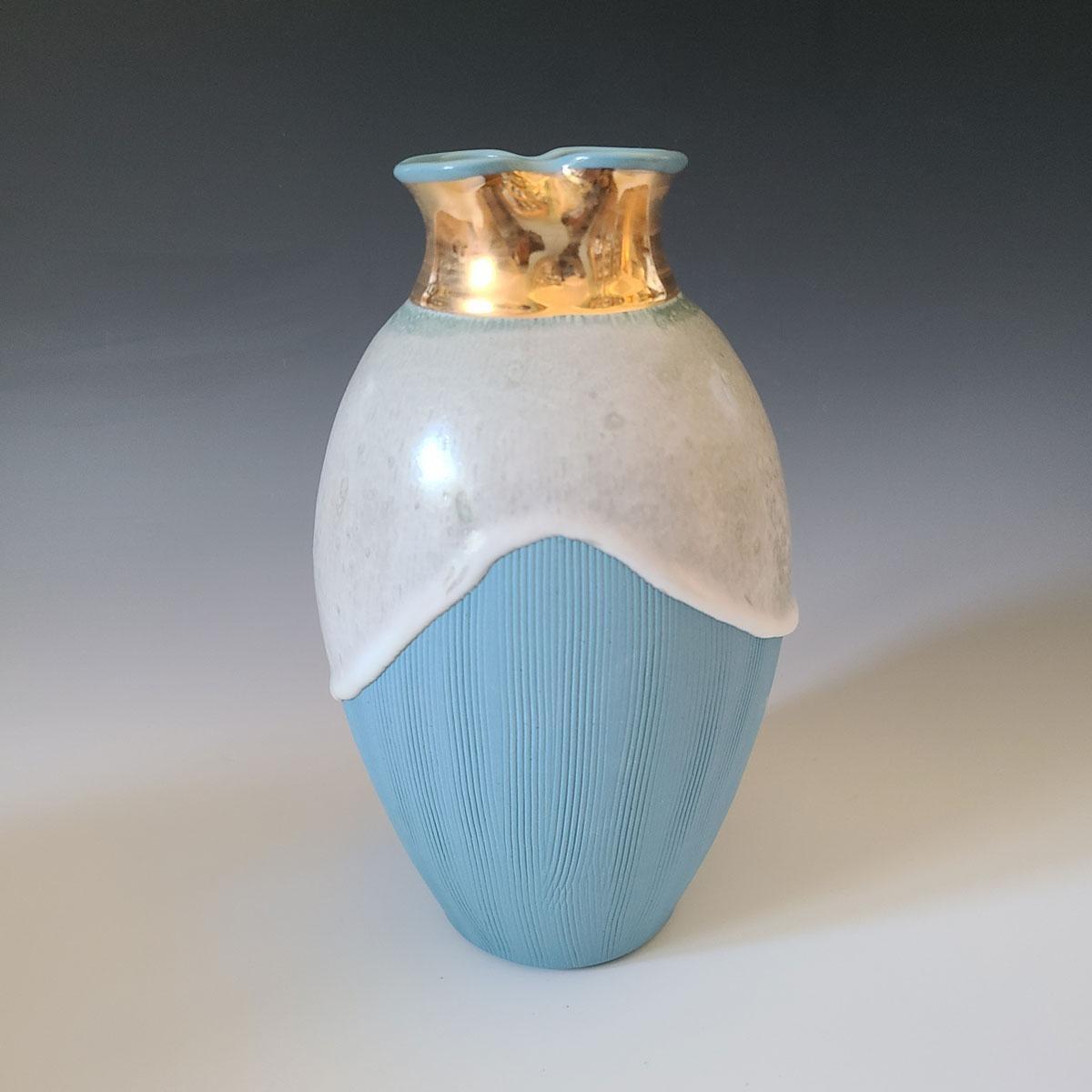 """Queen Elsa,"" Abstract Ceramic Vase"