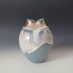 """Queen Freya,"" Abstract Ceramic Vase"