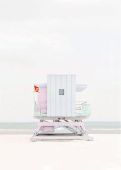 """Miami Lifeguard Station 1,"" Coastal Photograph, 36"" x 24"""