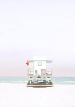 """Miami Lifeguard Station 2,"" Coastal Photograph, 36"" x 24"""