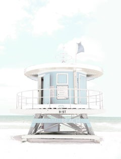 """Miami Lifeguard Station 3,"" Coastal Photograph, 36"" x 24"""